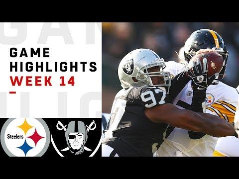 64cc21953 Steelers vs. Raiders Week 14 Highlights   NFL 2018