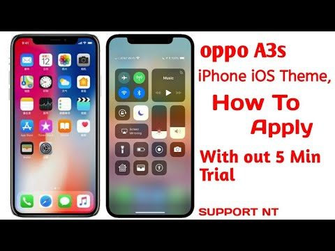 oppo A3s How To Apply iOS Theme in Android phone| iOS 12 Theme in oppo And Realme Device