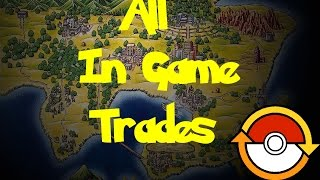 All In Game Trades (Pokemon Blue/Red)