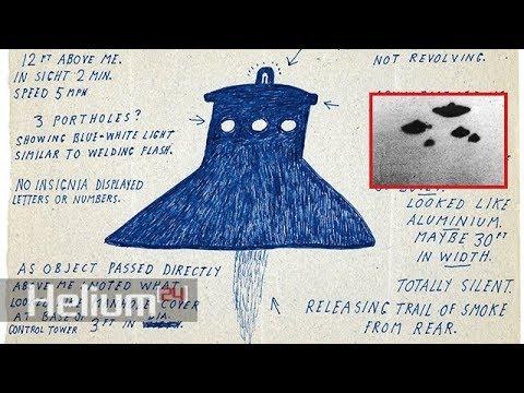 Disegni di UFO declassificati dal Ministero della Difesa del governo britannico
