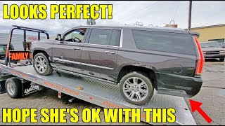 """I Bought My Wife A New Escalade With """"Structural Damage"""" For 40% OFF! Cadillac Couldn't Sell It!"""