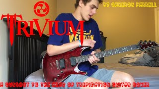Trivium - A Gunshot To The Head Of Trepidation Guitar Cover (Studio Quality) with All Solos