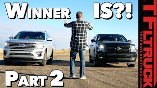 Ford Expedition vs Chevy Suburban: Who Wins The (Not So) Great Race? Part 2 of 2
