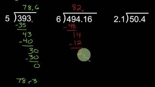 Long Division - With Decimals And No Calculator