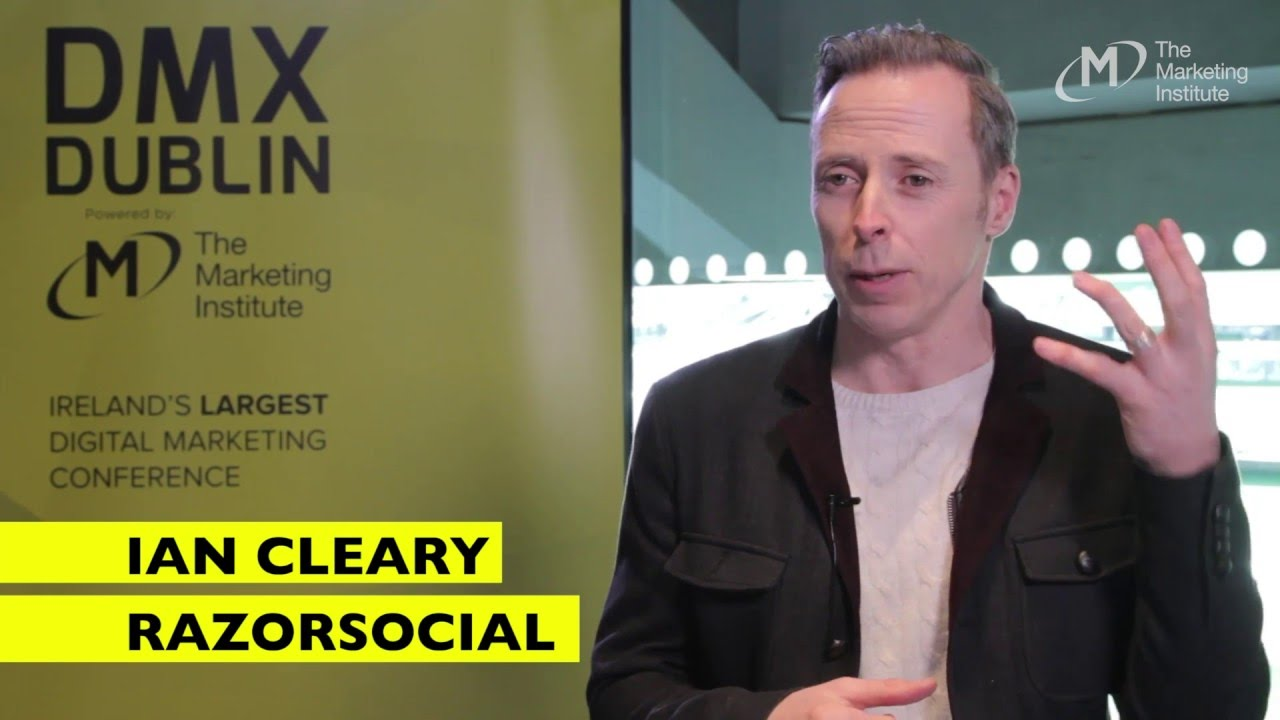 Ian Cleary, RazorSocial - Interview @ DMX Dublin 2016