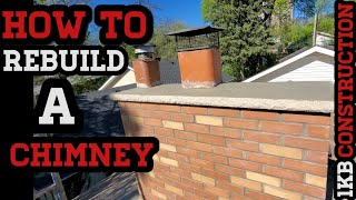 BRICKLAYING:HOW TO REBUILD A BRICK CHIMNEY, PRO TIPS CHIMNEY  WORK