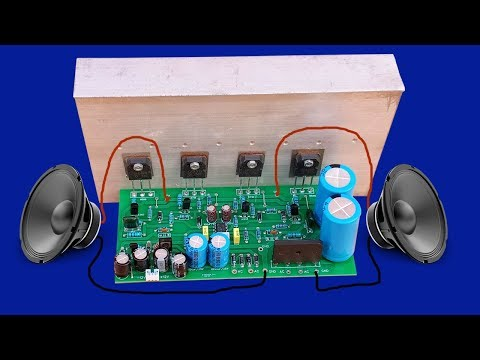 How to make Amplifier 400 Watt using transitors D718 and B688