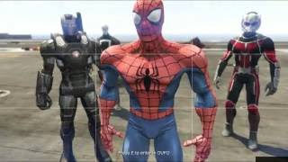 GTA 5 Spiderman 3 Mod - Náo loạn khu quân đội cướp UFO
