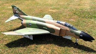 Freewing F-4 Phantom II 90mm EDF Jet Airshow Style Flight At Warbirds Over Whatcom
