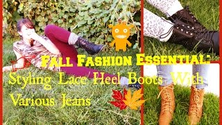 Fall Fashion Essential: Styling Lace Heel Boots+Cool Trick ;)