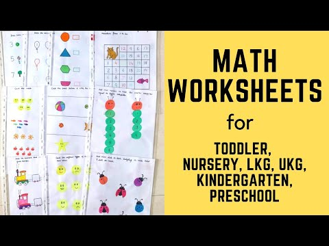 Daily Practice Math Worksheets for Toddler, Nursery, LKG, UKG, Kindergarten, Preschool | Part-2