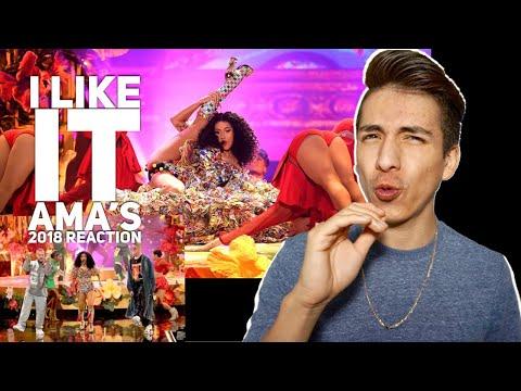 Cardi B, Bad Bunny, J Balvin- I Like It AMA's 2018 |E2 reacts