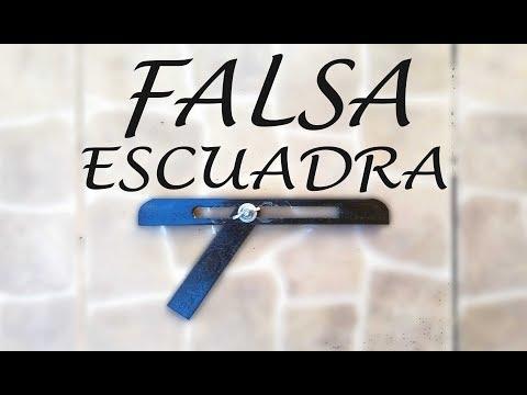 FALSA ESCUADRA, para medir angulos difíciles....