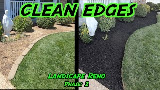 Clean Edges And Mulching Flower Beds | Landscaping Renovation: Phase 2