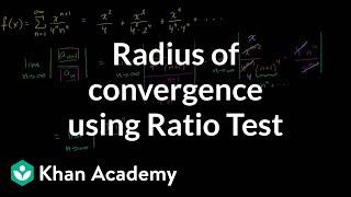 Radius of convergence using Ratio Test