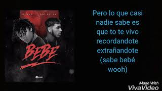"""Bebé"" Ozuna ❌ Anuel AA (Video Lyric)"