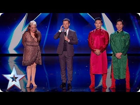 Through to our LIVE FINAL - it's Micky P Kerr and Giang Brothers! | Semi-Finals | BGT 2018 (видео)