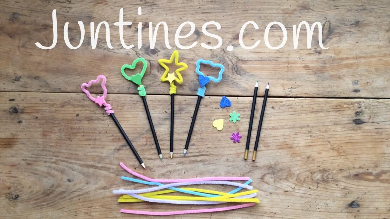 Manualidades con limpiapipas para decorar tus lápices