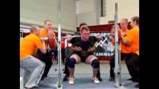 preview picture of video 'Tim Jurick (AC Lauchhammer) Kniebeugen 3.Vers.: 250 kg - 2013 Deutsche Meisterschaft A-Jugend'