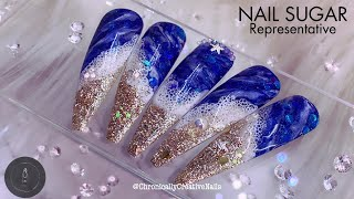 Beach Nail Design | Nail Sugar | Gel Nails | Easy Nail Art