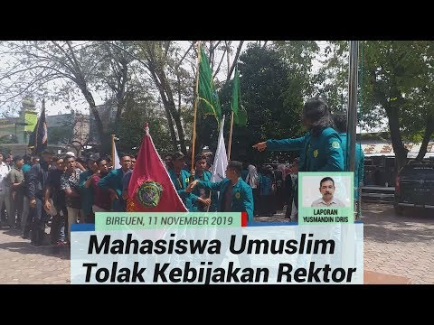 Desak Bertemu Rektor, Seratusan Mahasiswa Umuslim Peusangan Bireuen Gelar Aksi Damai