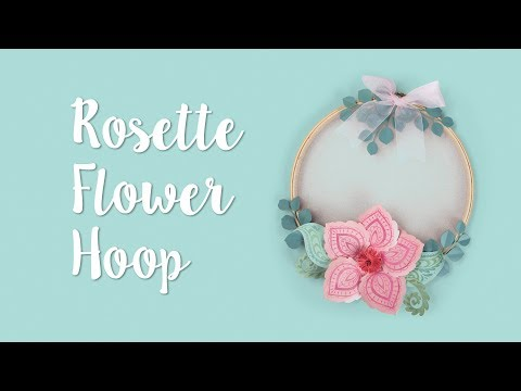 How to Make a Rosette Flower Hoop!