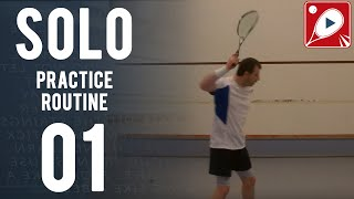 Squash Drills: Solo Practice Routine 01 - 5 Solo Routines EVERY Squash Player Should Try!