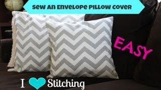 Sew An Envelope Pillow Cover: Beginner