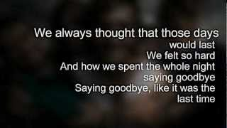 """Saying Goodbye"" - Every Avenue (Lyrics on screen)"