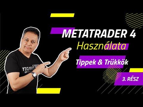 Online tőzsde kezdőknek -  Metatrader 4 használata 3  rész