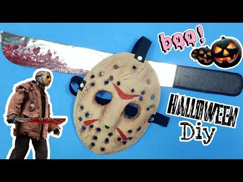 [Halloween DIY] Cómo Hacer La Máscara y El Machete de JASON VOORHEES* Friday the 13th*