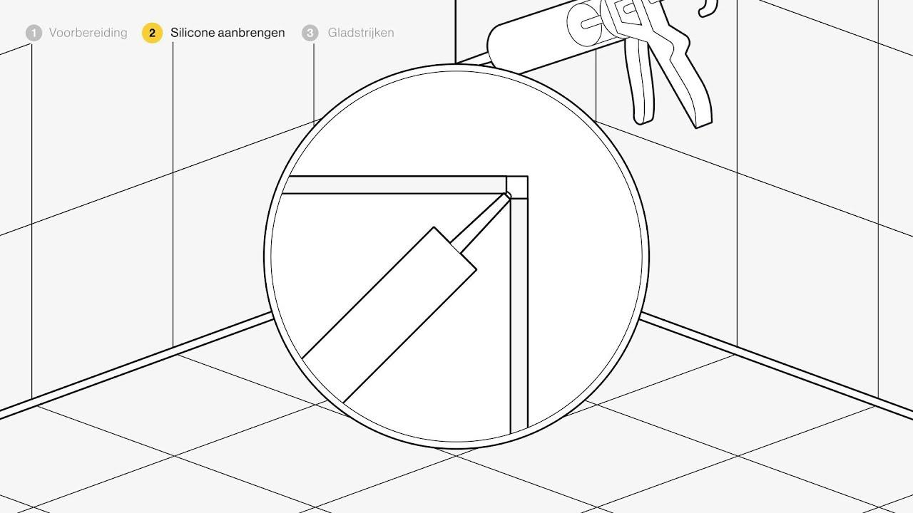 Sanitair silicone aanbrengen - Voor de makers