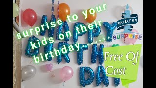 #3 Morning Surprise Birthday Party || Decoration || Gift || Cake.
