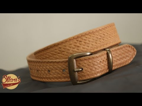 Making a Simple Leather Belt/ Beginner leatherworking project