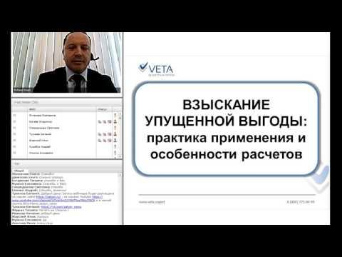 Взыскание упущенной выгоды // Вебинар от компании VETA