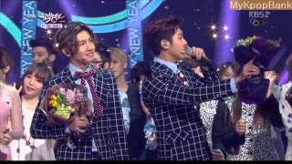140207 TVXQ VS Girl's Day [DBSK WIN] 동방신기 VS 걸스데이_Something Music Bank yoonho changmin yura
