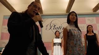 ZIN KATO 商品説明@10/21ランチパーティー(ブルーフラワープリントドレス)
