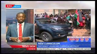 CS Fred Matiangi launches phase one of a pilot programme of the new education curriculum