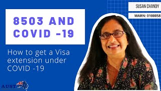 How to get a Visa extension during COVID 19 – 8503 and Your Visa #covid #visa #8503