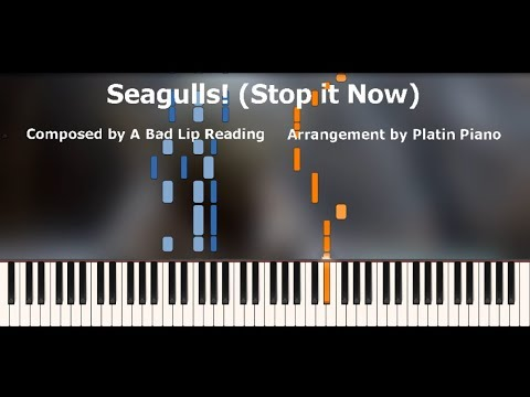 A Bad Lip Reading | Seagulls! (Stop It Now) | Piano Tutorial - Platin Piano