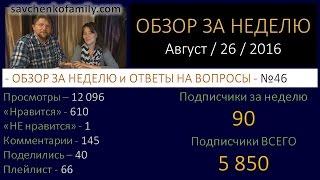 Ответы на вопросы, старые фотографии семьи. Обзор 46 08/26/16 многодетная семья Савченко