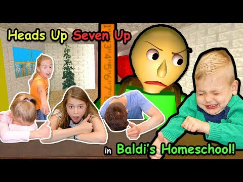 Heads Up Seven Up in Baldi's HomeSchool in REAL LIFE!