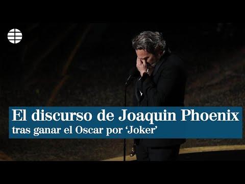 Video: El mundo comenta el discurso de Joaquín Phoenix, ganador del Oscar
