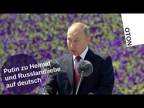 Putin zur Heimat- und Russlandliebe auf deutsch [Video]