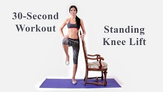 30-Second Workout - Standing Knee Lift - DiTuro Productions