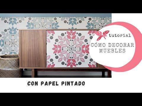 Decorar muebles con papel pintado