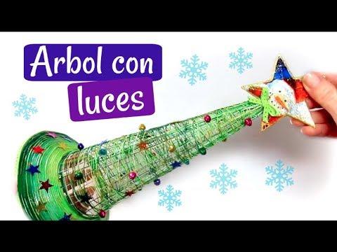 DIY ÁRBOL DE NAVIDAD CON LUCES FÁCIL Y ORIGINAL