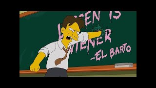 The Simpsons  - Bart gets bullied by his new teacher part 2 ✔2017