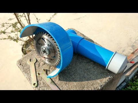 DIY - how to make angle grinder at home using dc motor very easy..... Mr creative dude