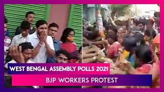 West Bengal Assembly Polls 2021: BJP Workers Protest Against Tickets To Former TMC Candidates - Download this Video in MP3, M4A, WEBM, MP4, 3GP